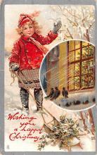 hol052719 - Christmas Postcard Old Vintage Antique Post Card