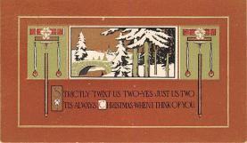 hol052721 - Christmas Postcard Old Vintage Antique Post Card