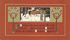 hol052723 - Christmas Postcard Old Vintage Antique Post Card
