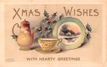 hol052729 - Christmas Postcard Old Vintage Antique Post Card