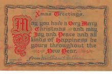 hol052733 - Christmas Postcard Old Vintage Antique Post Card