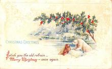 hol052735 - Christmas Postcard Old Vintage Antique Post Card