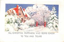 hol052737 - Christmas Postcard Old Vintage Antique Post Card
