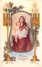 hol052741 - Christmas Postcard Old Vintage Antique Post Card
