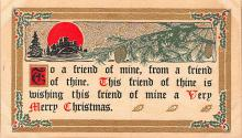 hol052743 - Christmas Postcard Old Vintage Antique Post Card