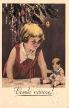 hol052751 - Christmas Postcard Old Vintage Antique Post Card