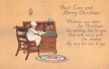 hol052755 - Christmas Postcard Old Vintage Antique Post Card