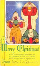 hol052757 - Christmas Postcard Old Vintage Antique Post Card