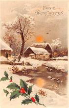 hol052761 - Christmas Postcard Old Vintage Antique Post Card