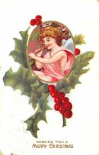 hol052771 - Christmas Postcard Old Vintage Antique Post Card
