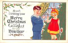 hol052781 - Christmas Postcard Old Vintage Antique Post Card