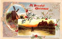 hol052795 - Christmas Postcard Old Vintage Antique Post Card