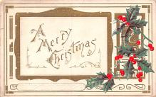 hol052799 - Christmas Postcard Old Vintage Antique Post Card