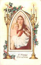 hol052805 - Christmas Postcard Old Vintage Antique Post Card