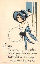 hol052811 - Christmas Postcard Old Vintage Antique Post Card