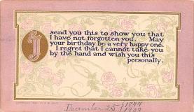 hol052815 - Christmas Postcard Old Vintage Antique Post Card