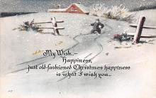 hol052819 - Christmas Postcard Old Vintage Antique Post Card
