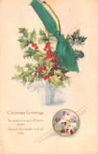 hol052825 - Christmas Postcard Old Vintage Antique Post Card