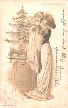 hol052829 - Christmas Postcard Old Vintage Antique Post Card