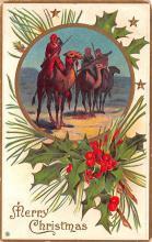 hol052833 - Christmas Postcard Old Vintage Antique Post Card