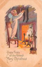 hol052837 - Christmas Postcard Old Vintage Antique Post Card