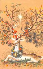 hol052843 - Christmas Postcard Old Vintage Antique Post Card