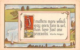 hol052859 - Christmas Postcard Old Vintage Antique Post Card