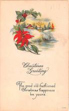 hol052863 - Christmas Postcard Old Vintage Antique Post Card