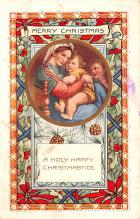 hol052879 - Christmas Postcard Old Vintage Antique Post Card