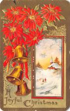 hol052891 - Christmas Postcard Old Vintage Antique Post Card