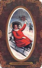 hol052895 - Christmas Postcard Old Vintage Antique Post Card