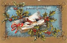 hol052905 - Christmas Postcard Old Vintage Antique Post Card