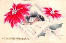 hol052907 - Christmas Postcard Old Vintage Antique Post Card