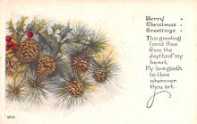 hol052909 - Christmas Postcard Old Vintage Antique Post Card