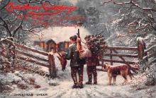 hol052915 - Christmas Postcard Old Vintage Antique Post Card