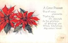 hol052929 - Christmas Postcard Old Vintage Antique Post Card