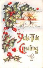 hol052933 - Christmas Postcard Old Vintage Antique Post Card