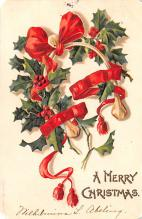 hol052939 - Christmas Postcard Old Vintage Antique Post Card