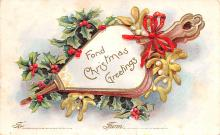 hol052941 - Christmas Postcard Old Vintage Antique Post Card