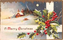 hol052947 - Christmas Postcard Old Vintage Antique Post Card