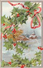 hol052949 - Christmas Postcard Old Vintage Antique Post Card