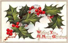 hol052951 - Christmas Postcard Old Vintage Antique Post Card
