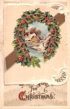 hol052953 - Christmas Postcard Old Vintage Antique Post Card
