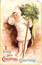 hol052959 - Christmas Postcard Old Vintage Antique Post Card