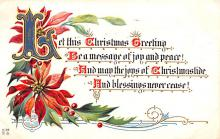 hol052967 - Christmas Postcard Old Vintage Antique Post Card
