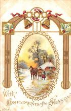 hol052975 - Christmas Postcard Old Vintage Antique Post Card