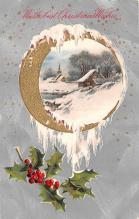hol052977 - Christmas Postcard Old Vintage Antique Post Card