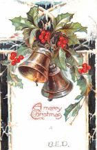 hol052983 - Christmas Postcard Old Vintage Antique Post Card