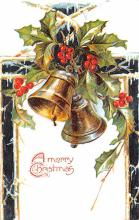 hol052985 - Christmas Postcard Old Vintage Antique Post Card