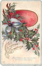 hol052987 - Christmas Postcard Old Vintage Antique Post Card